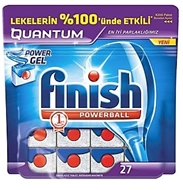 Picture of Finish Powerball Quantum Otomatik Bulaşık Makinesi Deterjanı 27 Tablet 491 gr