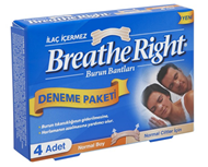 Resim Breathe Right Burun Bantları Normal Ciltler için Normal Boy 4 Adet