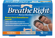 Resim Breathe Right Burun Bantları Normal Boy 10 Adet