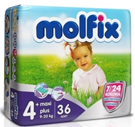 Picture of Hayat Molfix 4+ Maxi Plus 9-20 kg 36 Adet
