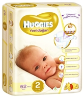 Picture of Huggies Mini No:2 Yenidoğan 62' li