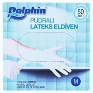 Picture of Dolphin Pudralı Lateks Eldiven 50 Adet