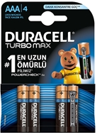 Picture of Duracell İnce Kalem Pil AAA Turbo Alkalin 4 lü