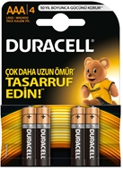 Picture of Duracell AAA İnce Kalem Pil 4 Adet