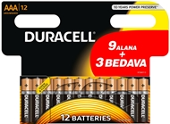 Picture of Duracell Aaa İnce Kalem Pil 9+3
