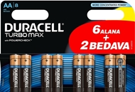 Picture of Duracell Turbo Max Alkalin AAA İnce Kalem Pil (6+2) 8'li Paket
