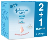Picture of Johnson's Baby Sütlü Sabun EKO Paket (2+1) 375 gr