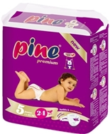Picture of Pine Junior 24 Lü İkiz Paket Bebek Bezi
