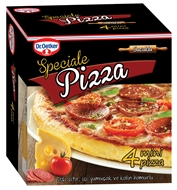 Picture of Dr. Oetker Speciale Sucuklu Pizza 4 x 180 gr