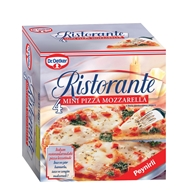 Picture of Dr. Oetker Ristorante Mini Pizza Mozzarella Peynirli Pizza 4 x 140 gr