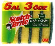 Picture of Scotch Brite Yeşil Klasik Sünger 5 Al 3 öde