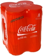 Picture of Coca Cola 4 x 250 ml