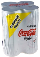 Resim Coca Cola Light 4 x 250 ml