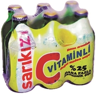 Picture of Sarıkız Maden Suyu C Vitaminli Limon 6x250 Ml.