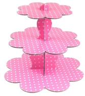 Picture of Roll-Up Pempe Puantiyeli Karton Cupcake Standı 39.3 x 29.8 cm