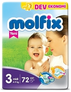 Picture of Molfix Midi Bebek Bezi No:3 72 Ped