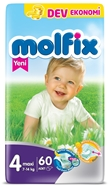Picture of Molfix Dev Eko Maxi Bebek Bezi No:4 60 Ped