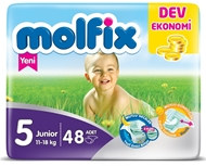 Picture of Molfix Dev Ekonomik Junior Bebek Bezi No:5 48 Ped