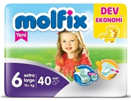 Picture of Molfix Bebek Bezi Dev Eko Extra Large No:6 40 Ped