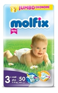 Picture of Molfix Bebek Bezi Dev Eko Midi Plus No:3 50 Ped