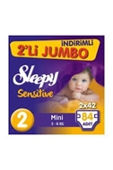 Picture of Sleepy Çocuk Bezi 2Li Jumbo 84 Lü Mini