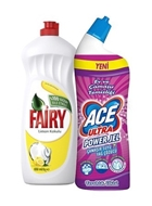 Picture of Ace Ultra Power Jel 750 Ml + Fairy Bulaşık Sıvı 650 Ml