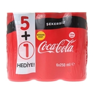 Picture of Coca Cola  Şekersiz Kutu 6X250 Ml
