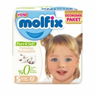 Picture of Molfix No 5 Pure&Soft Junior 22 Li