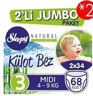 Picture of Sleepy Külot Bez 2 Li Jumbo No:3 Midi (4-9 Kg) 68 Adet