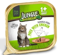 Picture of Jungle Püre Yetişkin Kedi Tavuklu 100 Gr